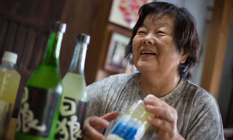 Chieko Sasaki and her own sake alcohol